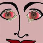 Red Eye. Грустные красные глаза.
