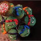 Teenage Mutant Ninja: кекс с черепашками ниндзя.