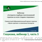 Glaucoma News. Вебинар: Алгоритм подбора гипотензивной терапии на всех стадиях глаукомы: video 1, part 3. Портал Орган зрения organum-visus.com
