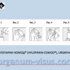 How to put drops in the eye! Hyloparin-Comod, URSAPHARM. Аптека для глаз портала Орган зрения www.organum-visus.com