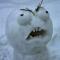 Взгляд снеговика сразу после Нового Года.