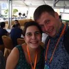 На фото слева направо: Alexandra Benavente-Perez (State University of New York College of Optometry, New York City, United States), Andrei Kovychev (Moscow, Russia, PERIFOCAL).