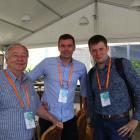 На фото слева направо: Ian Morgan (professor, Australian National University, Canberra, Australia), Regan Ashby (Assistant professor,University of Canberra, Canberra, Australia), Andrei Kovychev (Moscow, Russia, PERIFOCAL).