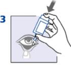Рис. 4. Порядок закапывания глазных капель.