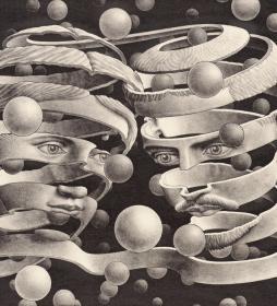 Bond of Union (1956), Морис Корнелиус Эшер (1898-1972, Ларен, Нидерланды). About Eyes everywhere, www.organum-visus.com