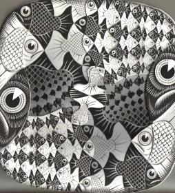 Fishes and Scales. Мир Мориса Корнелиуса Эшера. About Eyes everywhere, www.organum-visus.com