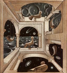 Other World (1947). Мир Мориса Корнелиуса Эшера. About Eyes everywhere, www.organum-visus.com
