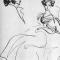 Пушкин и Гончарова. Рисунок Н. Рушевой.